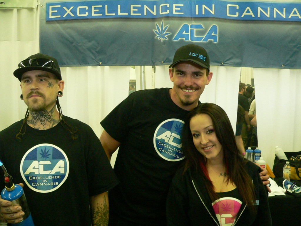 A Cut Above dispensary staff giving away dabs at The Cannabis Cup Denver 2012