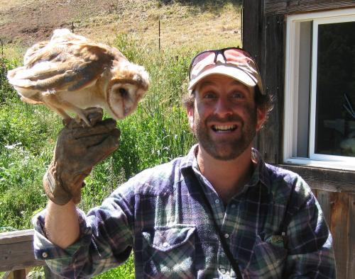 Too High to Fail author Doug Fine with owl