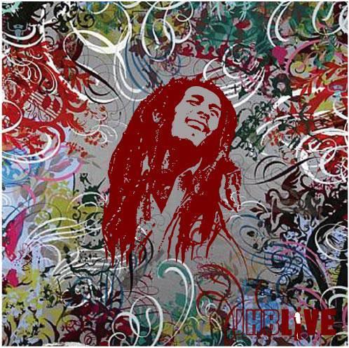 electric painting of rasta man bob marley