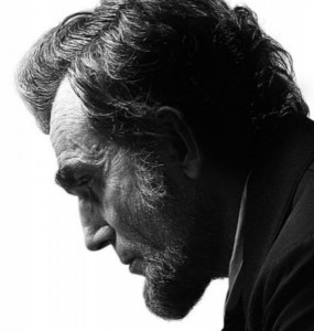 head shot of Daniel Day Lewis as Lincoln from Spielberg movie