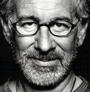 Director Steven Spielberg looking Lincolnesque.