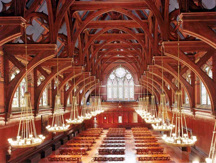 Harvard's hallowed halls