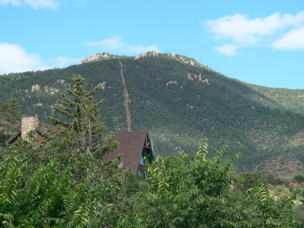 The Manitou Incline: hundreds of fitness freaks hike up this super-steep trail around 6 AM every morning.